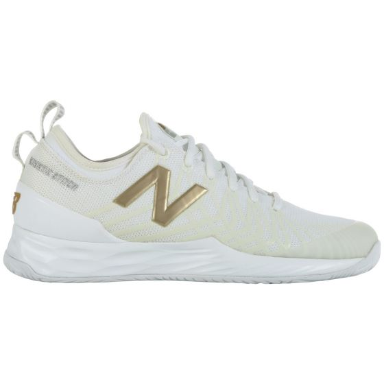 CHAUSSURES DE TENNIS HOMME NEW BALANCE MCHLAVRG BLANC/OR