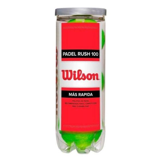 BALLES WILSON PADEL RUSH 100 TUBE DE 3 BALLES WRT136500