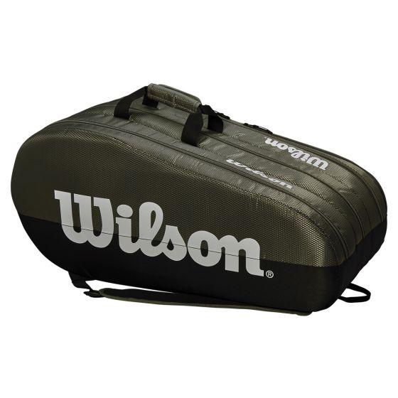 SAC DE TENNIS WILSON TEAM 3 COMP WRZ854915 GRIS/NOIR