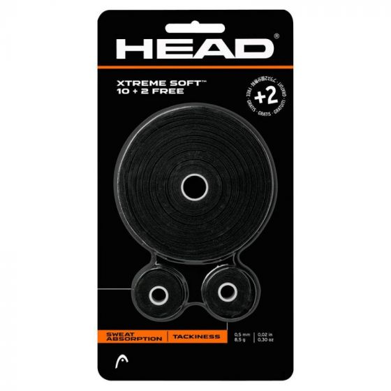 SURGRIPS HEAD XTREME SOFT x12 (10 + 2 GRATUITS) 285036 NOIR
