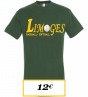 T-SHIRT ADULTE VERT LOGO N2 LIMOGES BASEBALL SOFTBALL