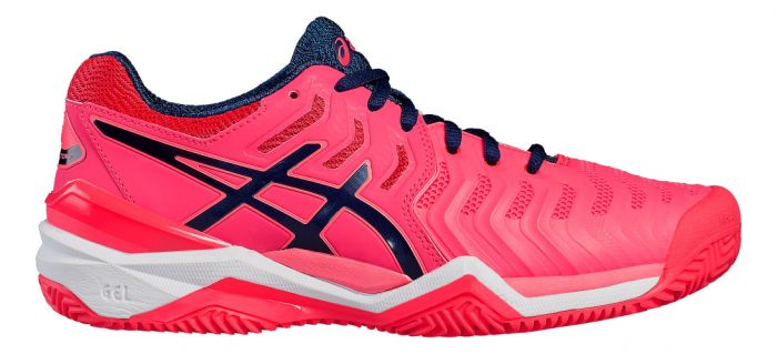 Asics Gel Resolution 7 Rose, chaussures de tennis femme