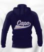 SWEAT CAPUCHE COTON AVEC ZIP FEMME CAPO LIMOGES BLEU