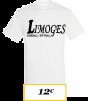 T-SHIRT ADULTE BLANC LIMOGES BASEBALL LOGO LIMOGES BASEBALL SOFTBALL NOIR