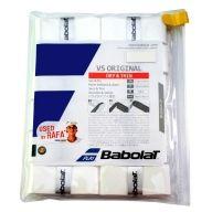 SURGRIP BABOLAT VS ORIGINAL 654010 101 BLANC LOT DE 12