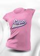 T-SHIRT FEMME/JUNIOR 100% SUBLIME CAPO LIMOGES ROSE  100% Polyester