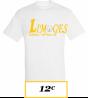 T-SHIRT ADULTE  BLANC LIMOGES BASEBALL LOGO LIMOGES 2 BASEBALL SOFTBALL JAUNE