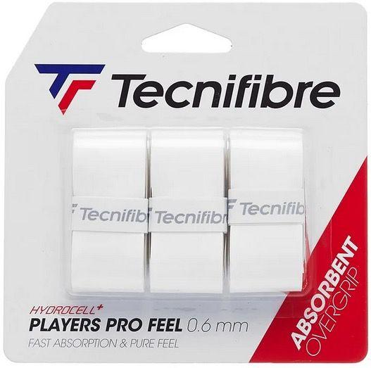 SURGRIP TECNIFIBRE PLAYERS PRO FEEL x3 BLANC