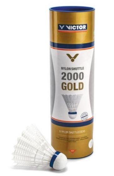 VOLANTS DE BADMINTON PLASTIQUE VICTOR 2000 BLANC VITESSE MEDIUM