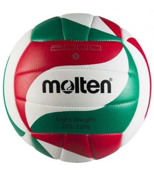 BALLON VOLLEYBALL MOLTEN VOLLEY ENTR. V5M2000-L BLANC/ROUGE/VERT