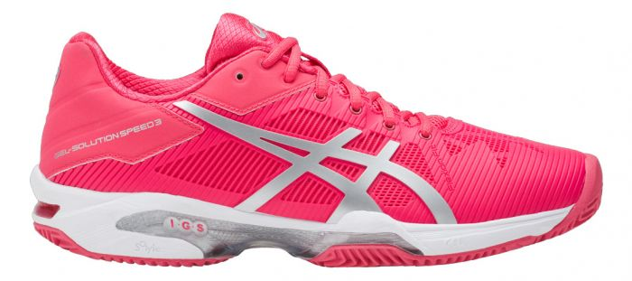 CHAUSSURES FEMME ASICS GEL SOLUTION SPEED 3 CLAY E651N 1993 ROSE