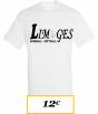 T-SHIRT ADULTE BLANC LIMOGES BASEBALL LOGO 2 LIMOGES BASEBALL SOFTBALL NOIR