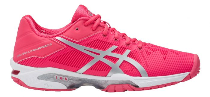CHAUSSURES ASICS FEMME GEL SOLUTION SPEED 3 E650N 1993 ROUGE