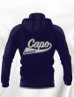 SWEAT CAPUCHE COTON AVEC ZIP HOMME/JUNIOR CAPO LIMOGES BLEU