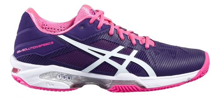 CHAUSSURES FEMME ASICS GEL SOLUTION SPEED 3 CLAY E651N 3301 VIOLET
