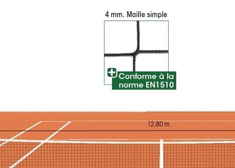 FILET DE TENNIS 4mm MAILLE 45mm SANS NOEUDS
